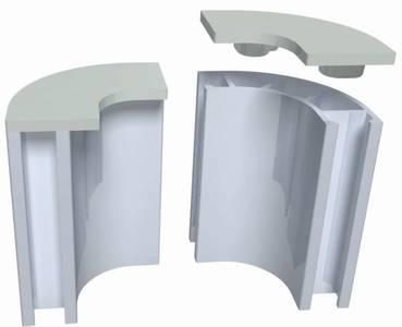 Terminal perfil curva Diseño 2